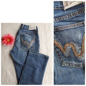Lucky womans size 4 mid rise straight jeans